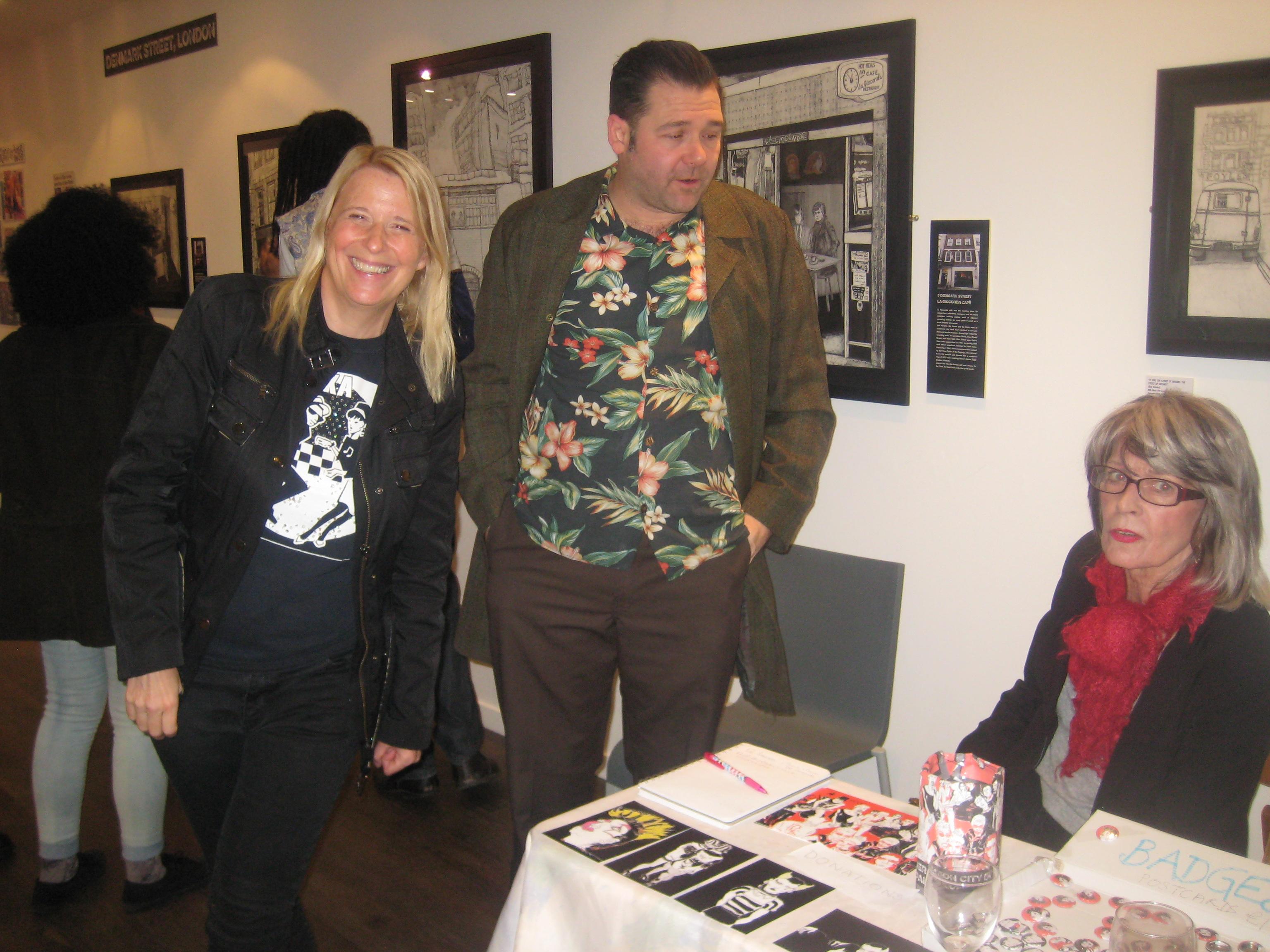 Fiona, Crispin Weir (Regent Sounds, Denmark Street) and Jo Weir (CGCA)...