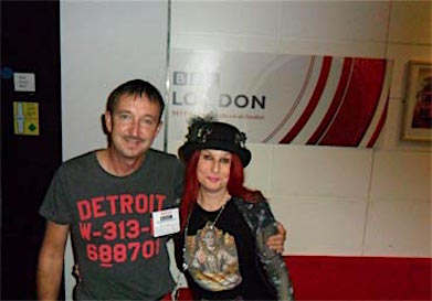 Outside Robert Elms studio with Gary...