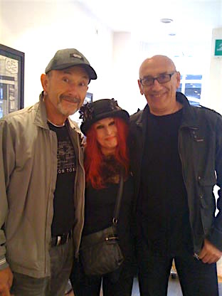 Phil John (Mott the Hoople, Bowie and Queen crew) and Chris (Crystal) Taylor (Queen crew)...