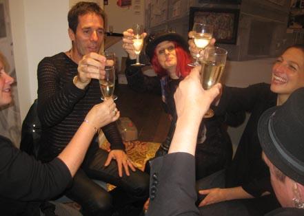 "A final ""Cheers!"" with Carol Fuller O'Doherty, Mick Crudge, Orsi Balla and Mick O'Doherty"