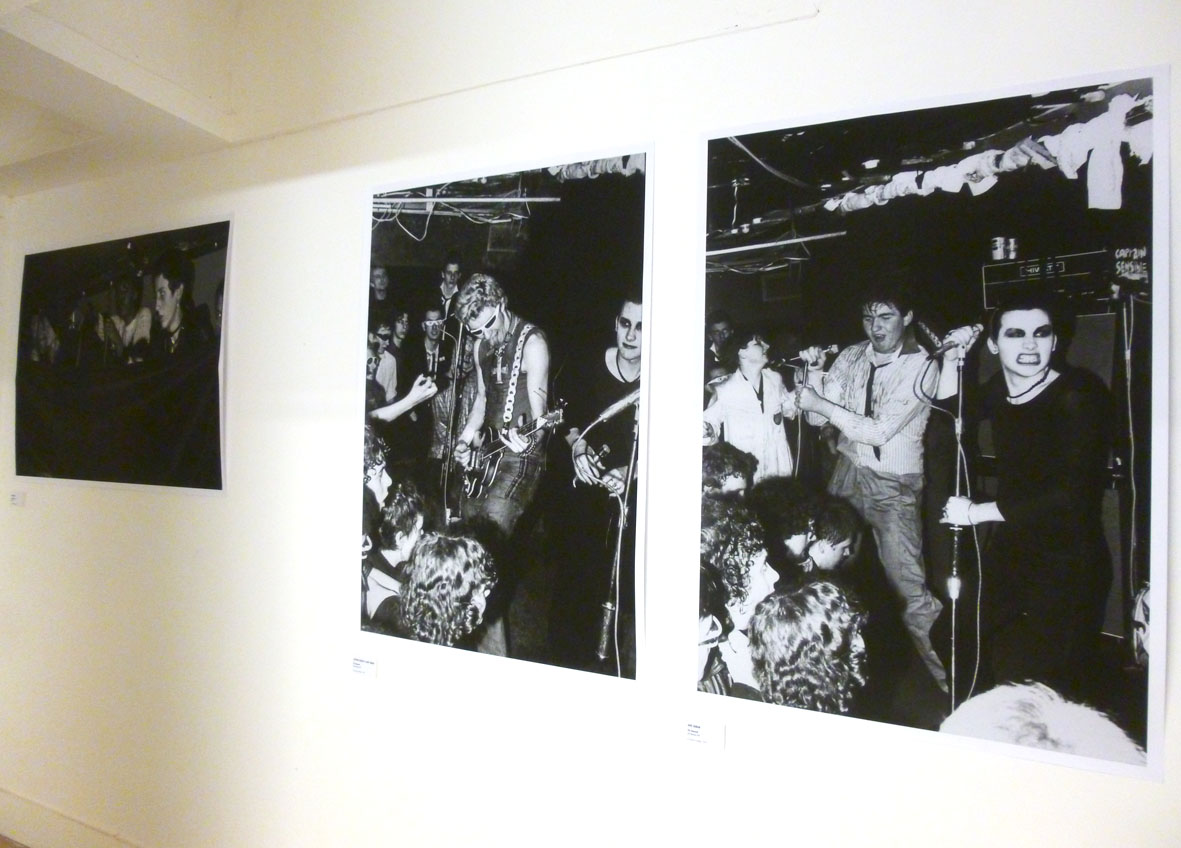 Audience watching the band, courtesy Derek Ridgers. And two great shots of the Damned, both Jeremy Gibbs...