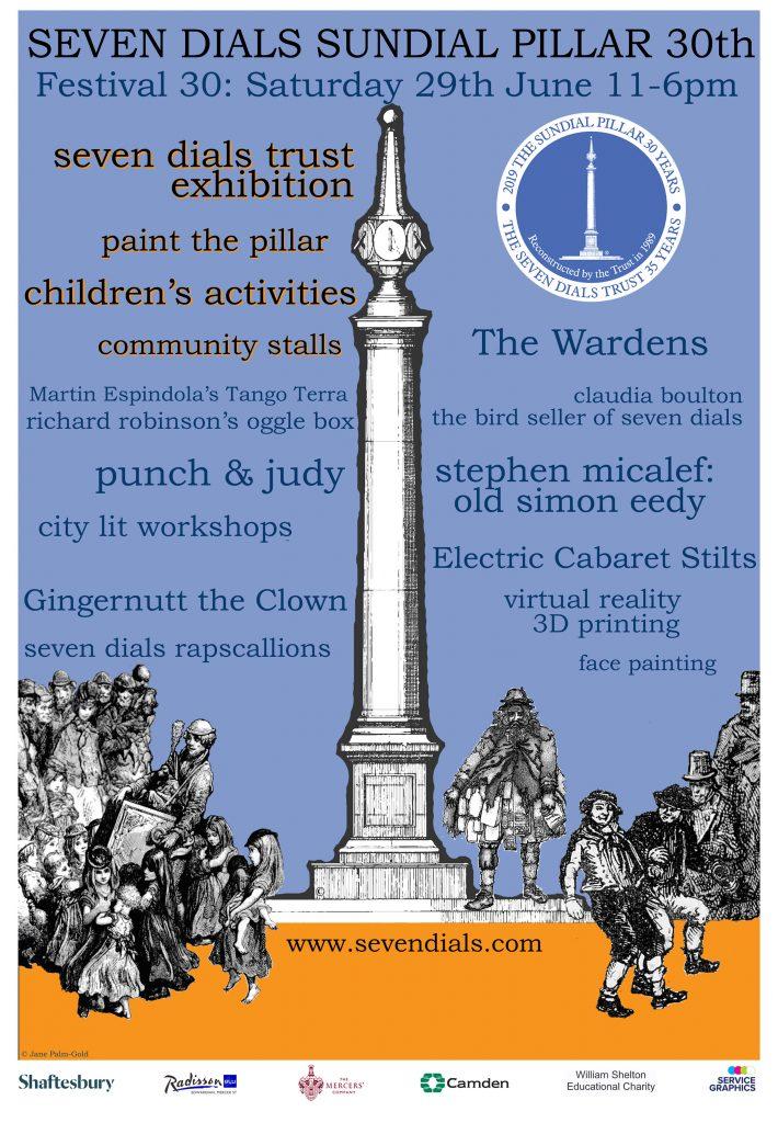 Poster for Sundial Pillar 30th birthday