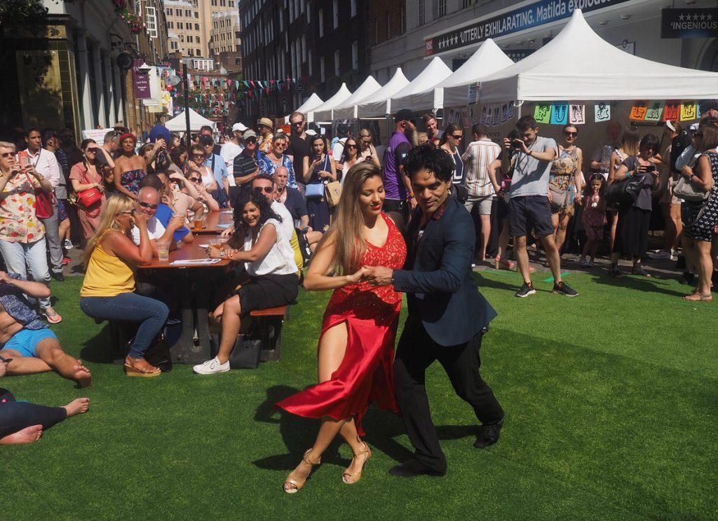 Martin Espindola's Tango Terra at Seven Dials Sundial Pillar 30th birthday